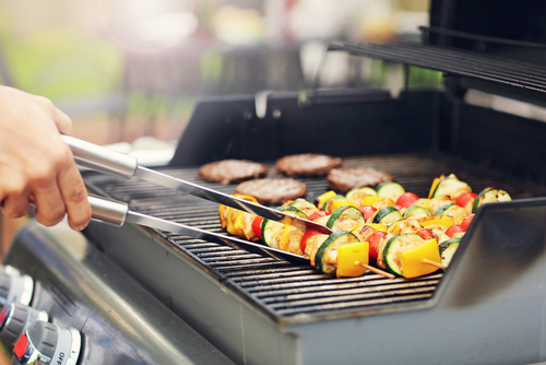 summer propane grilling